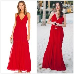 NWT MAJORELLE TONY GOWN IN RED